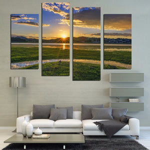 Canvas Painting Pictures Modular Decorative On The Wall For Living Room Art Sofa Backdrop Modern Pictures Landscape No Frame