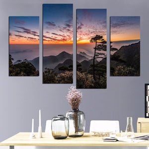 Factory Sale Mountain Sunrise Painting Home Decoration Paintings Wall Art Bedroom Living Room Canvas Painting Unframed FA541