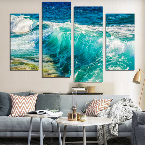 Canvas Painting Wall Art Picture Abstract Modern print on Landscape Sea Flower Canvas Painting Home Decor For Bedroom no frame