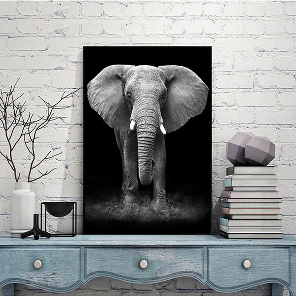 Canvas Painting Wall Art Pictures Print HD Animal Nordic Black&White Modular Paintings For Living Room Home Decoration no frame