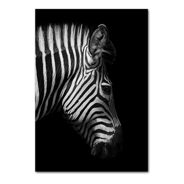 GOODECOR Canvas Painting Black White Animals Pictures Home Decor Zebra Wall Canvas Art for Living Room Poster and Prints