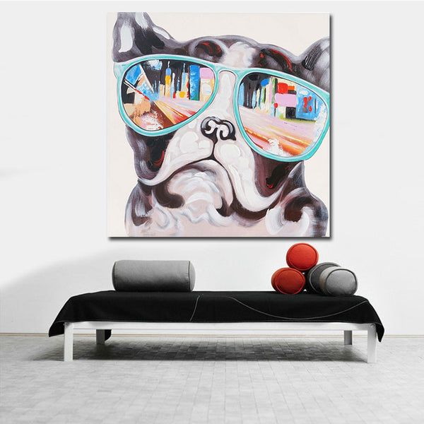 Home Decor Canvas Painting Cute Animal Dog Wall Art Picture Canvas Prints Modern Wall Pictures for Living Room No Frame