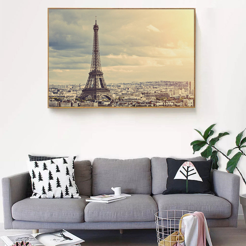 Goodecor Canvas Painting Paris Eiffel Tower Poster Wall Art Home Decor Landscape Hd Prints Modern Artworks For Bedroom