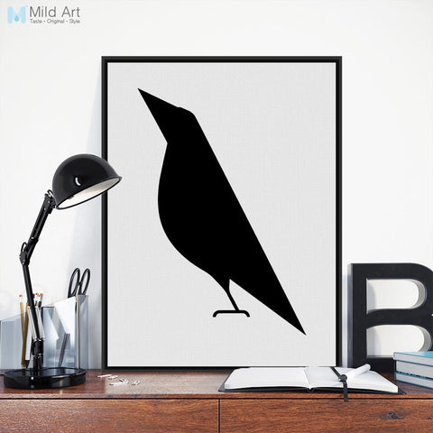 Modern Abstract Black and White Bird Posters Prints Nordic Style Living Room Wall Art Pictures Home Decoration Canvas Paintings