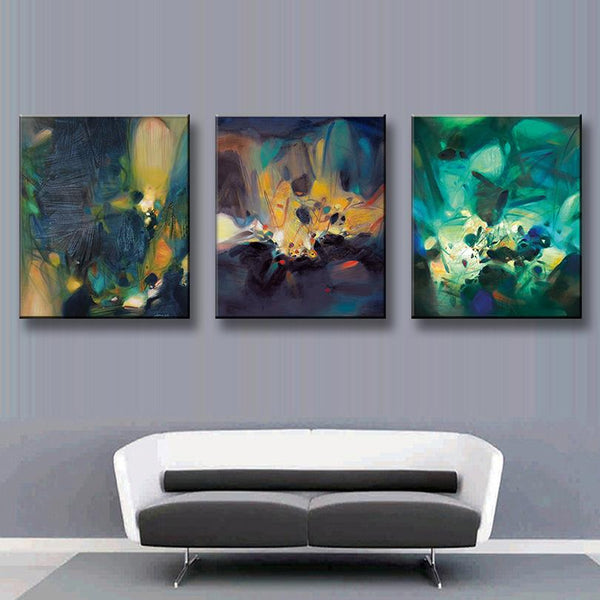 3 Pcs/Set  Modern Abstract Oil Painting Office Wall Pictures Oil Painting On Canvas Wall Art Top Home Decoration,Free Shipping