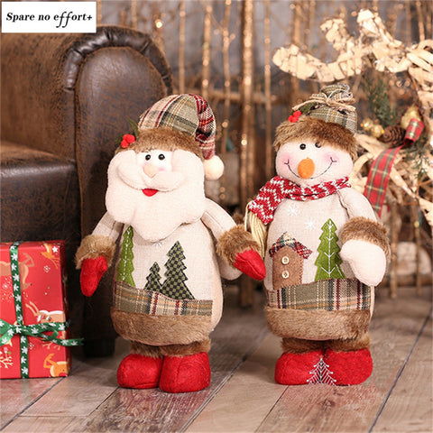 Santa Claus Christmas Tree Decorations Xams Doll Navidad Ornament Xmas Festival Party Home Decor New Year Christmas Decorations