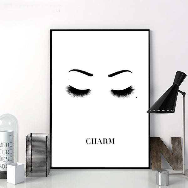 Fashion Eyes Eyelash Sexy Girl Wall Art Canvas Painting Nordic Posters And Prints Wall Pictures For Living Room Pop Art Decor