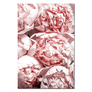 Blush Pink Flower Canvas Poster Nordic Style Peony Floral Wall Art Print Painting Decoration Picture Scandinavian Home Decor