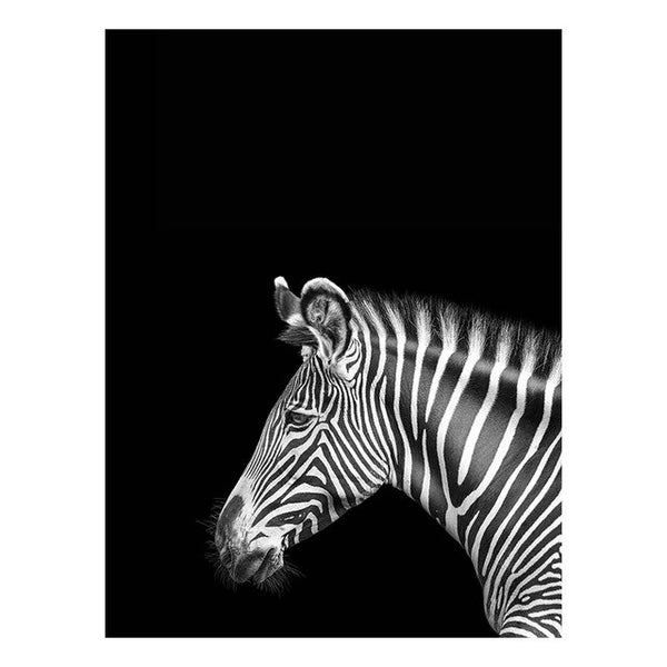 Animals Wall Art Canvas Poster Black and White Print Deer Elephant Painting Nordic Decoration Picture Modern Living Room Decor
