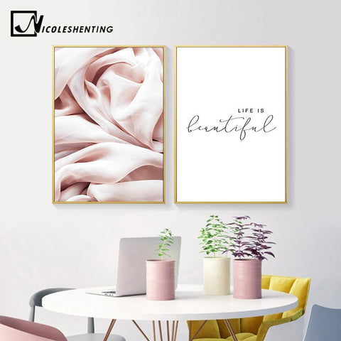 Abstract Canvas Fashion Poster Nordic Minimalist Wall Art Life Quotes Print Painting Decoration Picture Scandinavian Home Decor