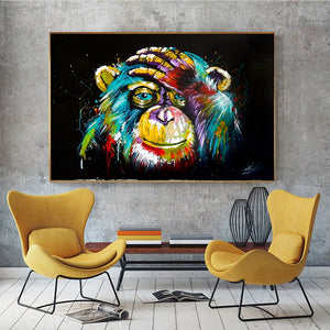 Monkey Gorilla artwork Canvas Painting Posters and Prints