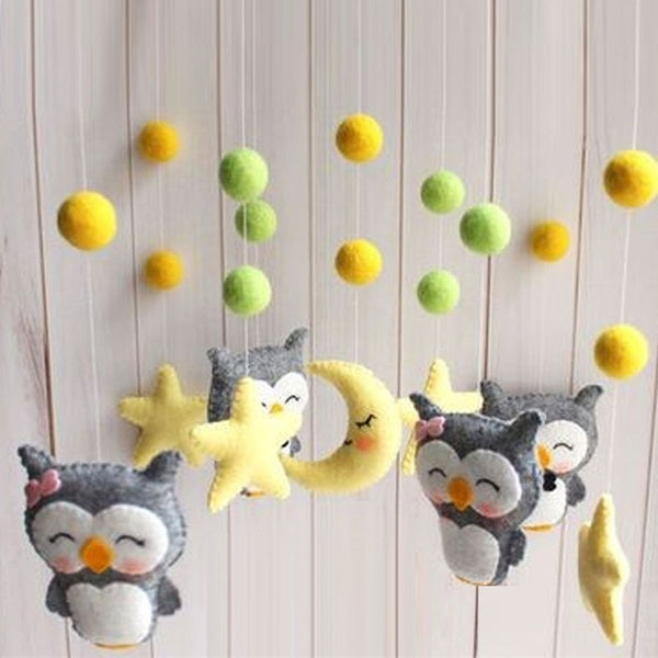 Baby Crib Holder Rattles Bracket Set Clockwork Music Box DIY Bed Bell Material Package Toy Pregnant Mom Handmade Toys For Baby