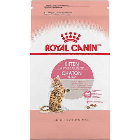 Royal Canin Feline Health Nutrition Kitten Spayed/Neutered Dry Cat Food, 2.5 lb