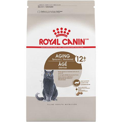 Royal Canin Feline Health Nutrition Aging Spayed/Neutered 12+ Dry Cat Food, 7 lb