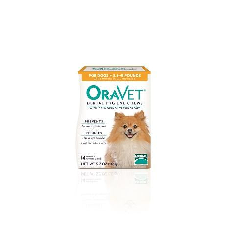 OraVet Dental Hygiene Chews for Dogs - Extra Small 3.5 - 9 lbs 14 count
