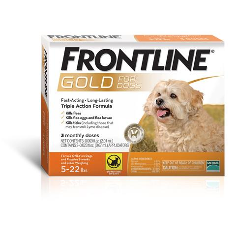 Frontline Gold Flea & Tick Treatment for Dogs - Small Dogs & Puppies (up to 22 pounds) 3 Doses