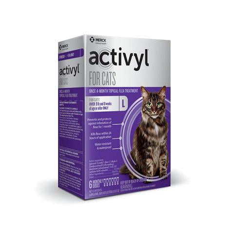 RX - Activyl for Cats Over 9 lbs, 6 Treatments