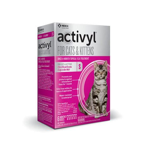 RX - Activyl for Cats & Kittens 2-9 lbs, 6 Treatments