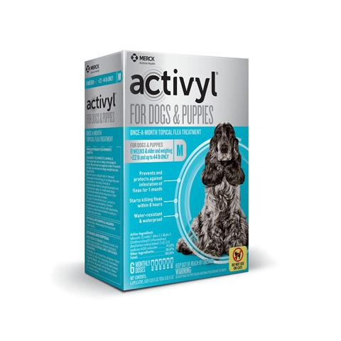 RX - Activyl for Dogs & Puppies 22-44 lbs, 6 Treatments