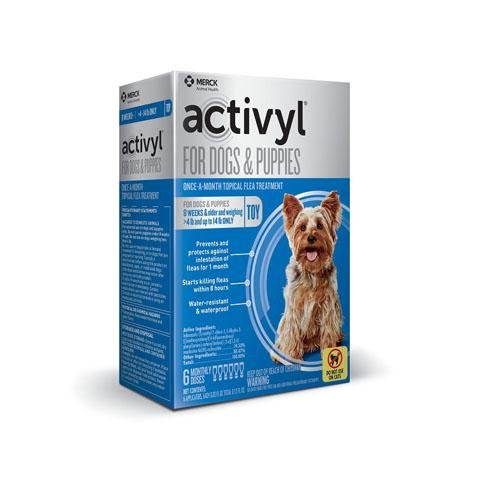 RX - Activyl for Dogs & Puppies 4-14 lbs, 6 Treatments
