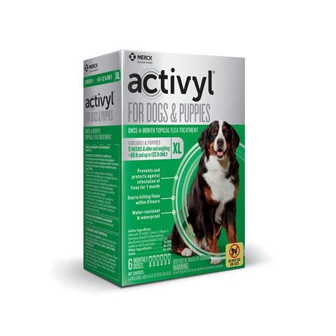 RX - Activyl for Dogs & Puppies 88-132 lbs, 6 Treatments