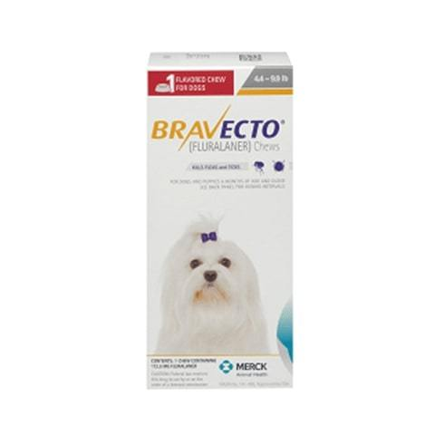 RX Bravecto Chews for Dogs 4.4-9.9lb