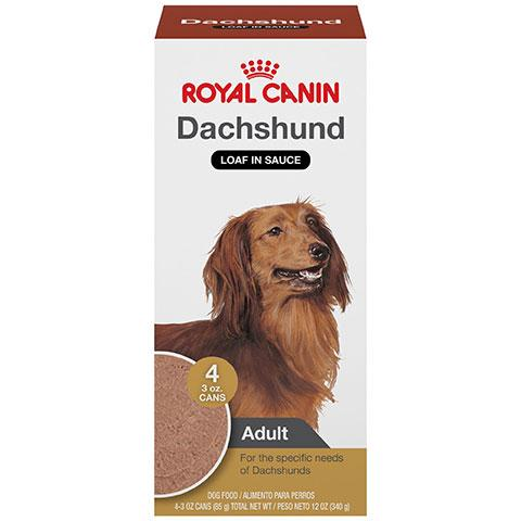 Royal Canin Breed Health Nutrition Dachshund Loaf In Sauce Dog Food Multipack, 3 oz, Pack Of 4