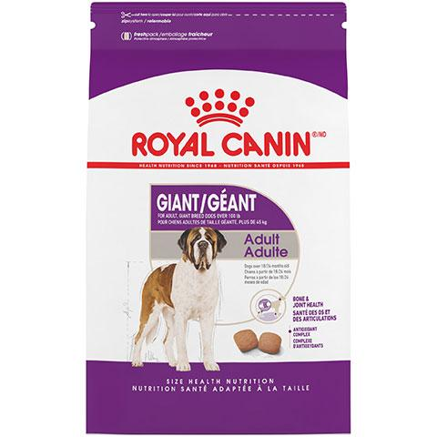 Royal Canin Size Health Nutrition Giant Adult Dry Dog Food, 35 lb Bag