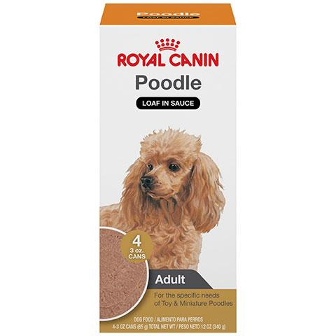 Royal Canin Breed Health Nutrition Poodle Adult Loaf In Sauce Dog Food Multipack, 3 oz, Case of 4