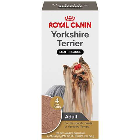Royal Canin Breed Health Nutrition Yorkshire Terrier Loaf In Sauce Dog Food Multipack, 3 oz, Case of 4