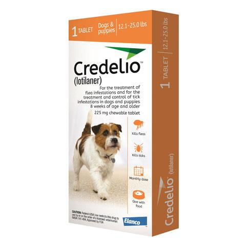 RX - Credelio (lotilaner) for Dogs 12.1 to 25.0 lbs - 1 Tablet