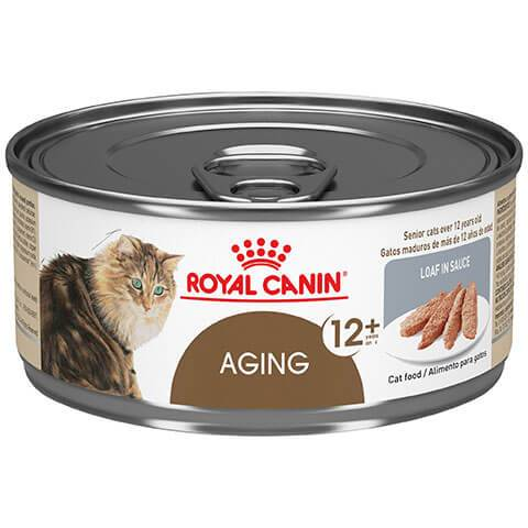 Royal Canin Feline Health Nutrition Aging 12+ Loaf In Sauce Canned Cat Food, 24/5.8 oz