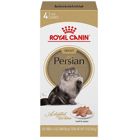 Royal Canin Feline Breed Nutrition Persian Adult Loaf In Sauce Canned Cat Food, 3 oz, Pack of 4