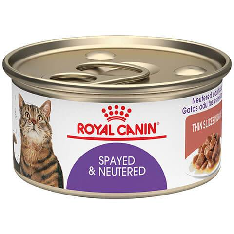 Royal Canin Feline Health Nutrition Spayed & Neutered Thin Slices In Gravy Canned Cat Food, 24/3 oz