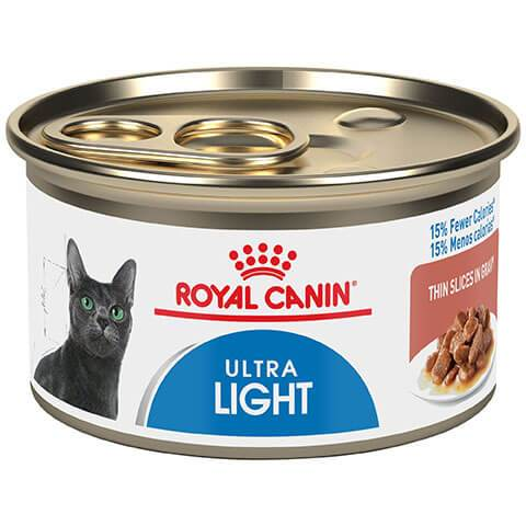 Royal Canin Feline Care Nutrition Ultra Light Thin Slices In Gravy Canned Cat food, 24/3 oz