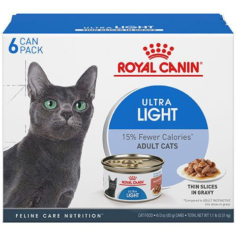 Royal Canin Feline Health Nutrition Ultra Light Thin Slices In Gravy Cat Food, 3 oz, Case of 6