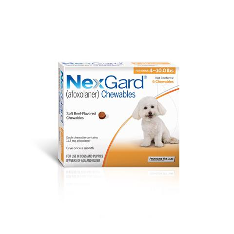 RX - NexGard Chewable Tablets for Dogs 6 Treatments - 4-10 lbs