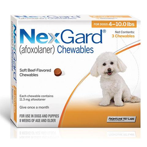RX NexGard Chewable Tablets for Dogs 3 Treatments (4-10lbs)