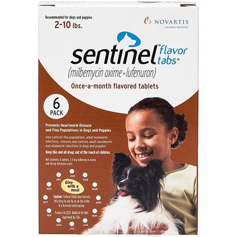 Sentinel Flavor Tablets for Dogs, 6 treatments
