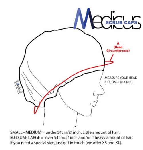 Cross Section Heart Scrub Cap - Medicus Scrub Caps