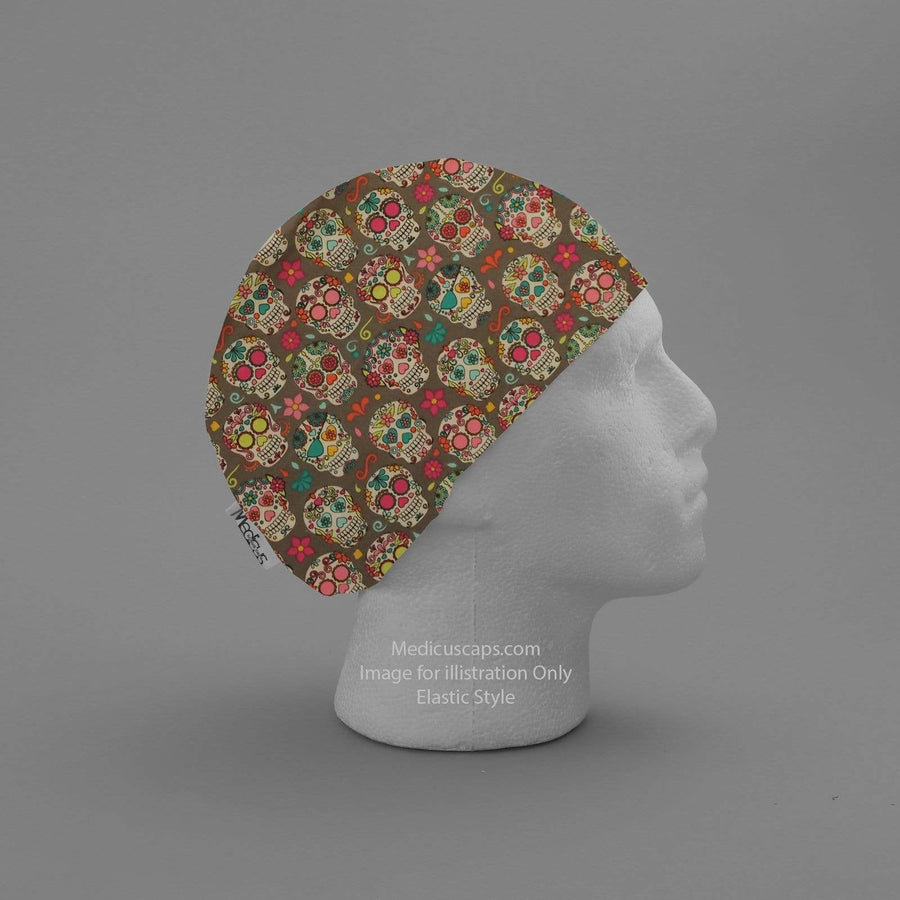 Day Of The Dead #2 Scrub Cap - Medicus Scrub Caps