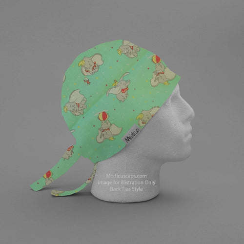 Dumbo Flying Beachball Scrub Cap - Medicus Scrub Caps