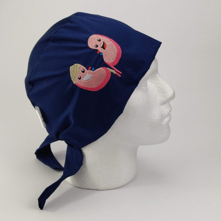 Kidney Embroidered Cap - Scrub Surgical Theatre Hat | Chef Hat - Medicus Scrub Caps