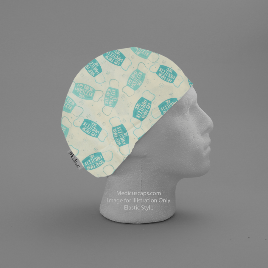 My Mask Protects You Scrub Cap - Medicus Scrub Caps