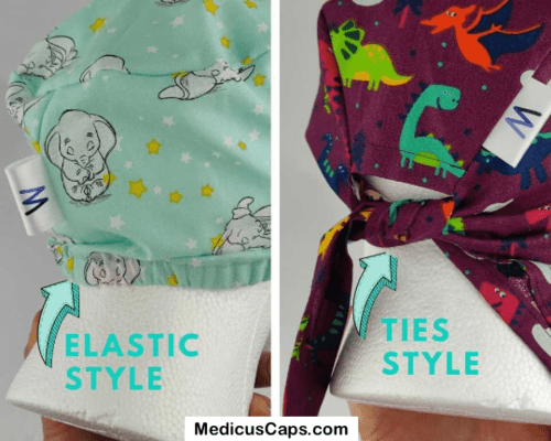 Nightmare Before Christmas on White Scrub Cap - Medicus Scrub Caps