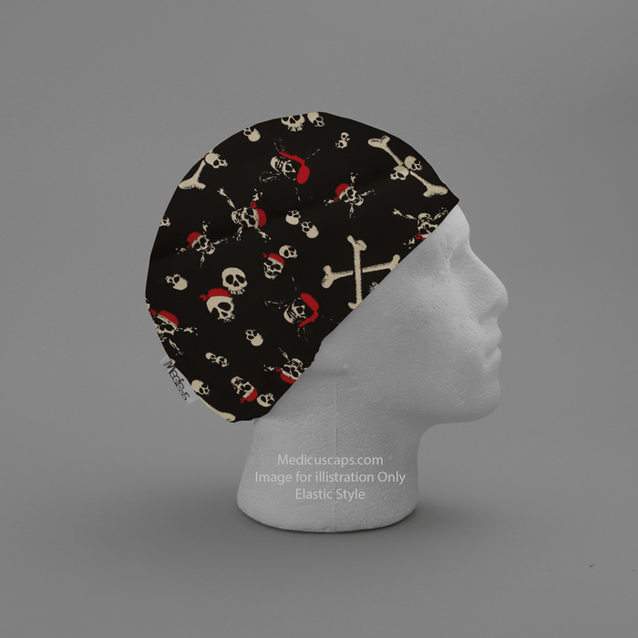 Pirate Skulls and Bones Scrub Cap - Medicus Scrub Caps