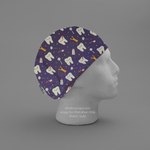 Teeth Dentist Floss Purple Scrub Cap - Medicus Scrub Caps