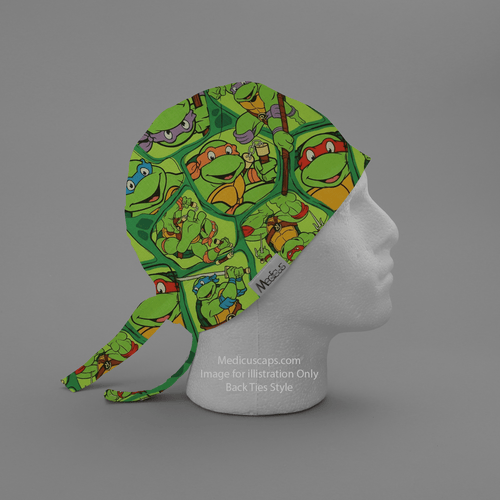 TMNT Teenage Mutant Ninja Turtles Scrub Cap - Medicus Scrub Caps