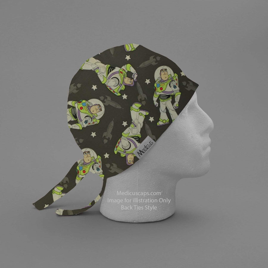 Toy Story Buzz in Space Scrub Cap - Medicus Scrub Caps
