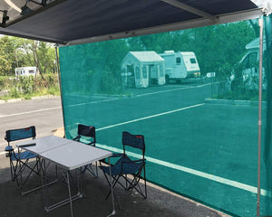 Tentproinc RV Awning Sun Shade Screen Sunshade Complete Kits -Drop 6', 7' -All Length Choose - Gift Blue